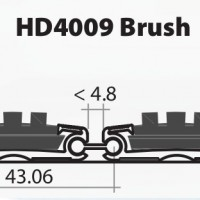 Stergator de intrare din aluminiu DOORMAT G5 HD4009 Brush