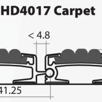 Stergator de intrare din aluminiu DOORMAT G5 HD4017 Carpet